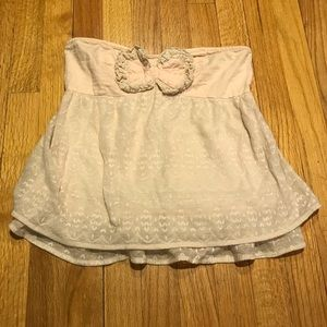 UO Lace Strapless Babydoll Top